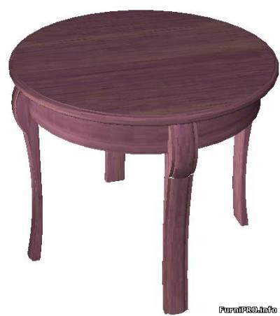 Круглый стол — 3d модель — Woody — Библиотека моделей мебели — Скачать модели чертежи мебели и фурнитуры