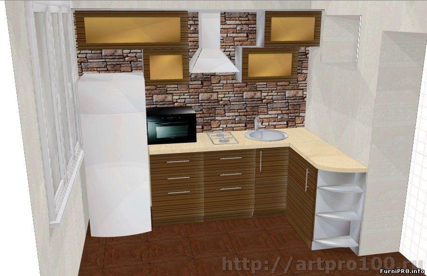 Pixaz каталог: угловая кухня для маленькой кухни.