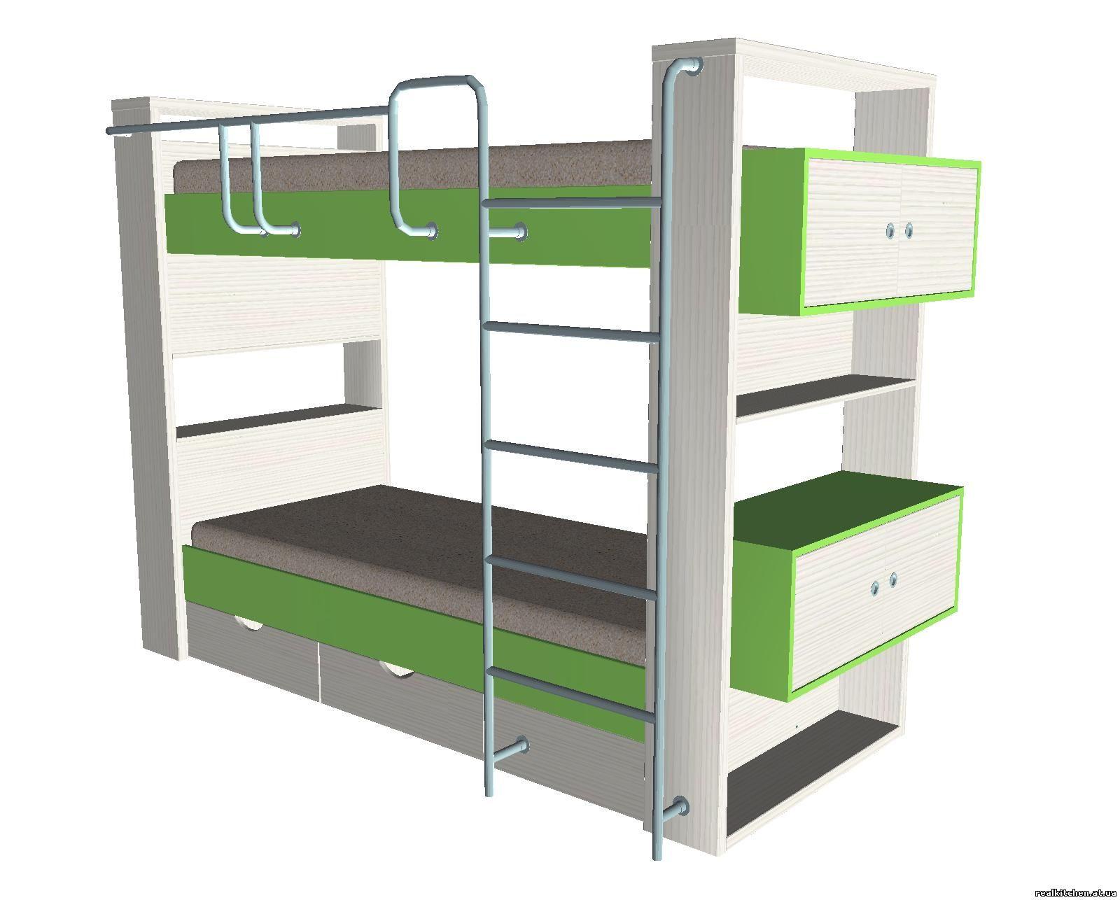 Двухъярусная детская кровать 81