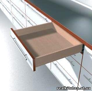 Спрятанные направляющие для мебельных ящиков